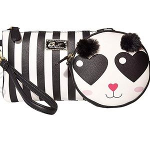NWT Betsey Johnson 2 for 1 wristlet and coin purse